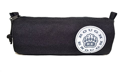 Rough Enough riflettente logo classico Cordura–Astuccio Custodia Black Black