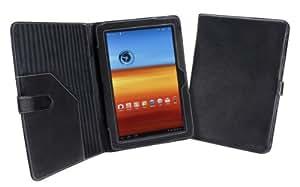 Cover-Up Étui Housse pour Samsung Galaxy Tab 10.1 (GT-P7510 / GT-P7500) Tablette (Style Livre) - Noir