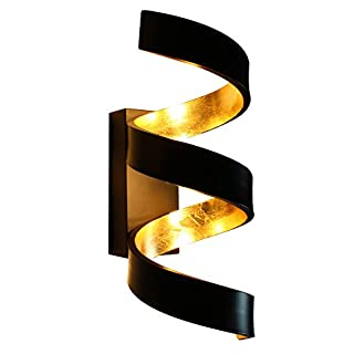 Luce Ambiente Design LED-Helix-AP3 NER, Metall, Gold, 13,5 x 16 x 32 cm
