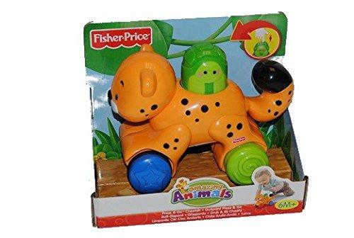 Roll Gepard Fisher Price Tiere Plastik Plaste SPIELZEUG Mini N 8162 Schiebetier -