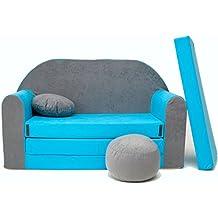 Minicouch Kindersofa Babysofa Sofa Set Sitzkissen Matratze weiche Velours verschiedene Farben