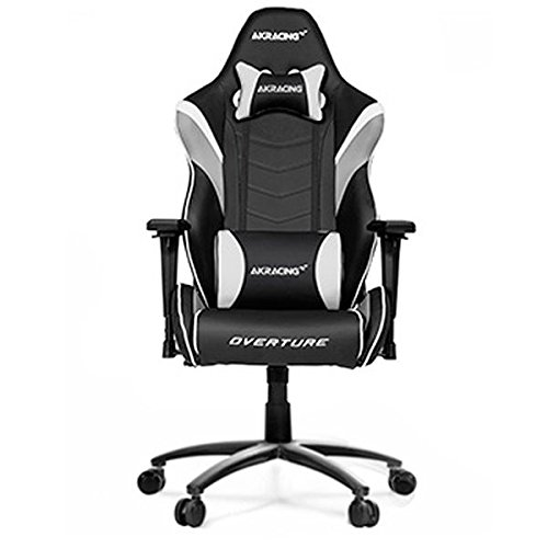 AKRacing Overture - AK-OVERTURE-WT - Silla Gaming, Color Negro, Blanco