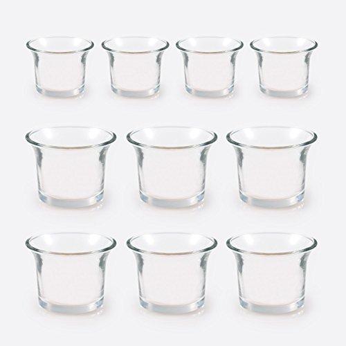 10 Teelichthalter klar, H 4,7 x D 6,5 cm
