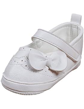 Festliche Babyschuhe Ballerinas weiß matt Taufschuhe Gr. 20 Modell 4693