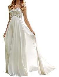 HUINI Vestidos de Las Lentejuelas Rebordear Largo Vestido de Novia amor de la Gasa