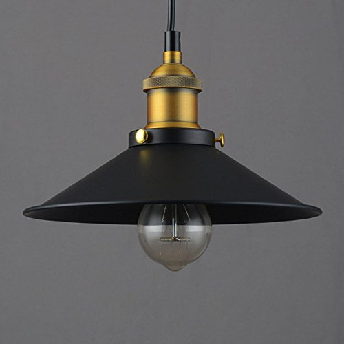 Northern Europe Retro Industrial Style Restaurant Bar Cafe Bar Creative Single Head Iron Art Pot Cover Loft Chandelier , 22Cm Black Decoration Lamps (Anzahl 100 Ballon)