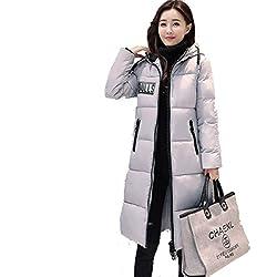 Eiderdaune Outwear Daunenmantel Daunenjacke Winter Lady Langer Abschnitt Gepolsterte Padded Breadsuit College Windjacke Jacke,A-XXL
