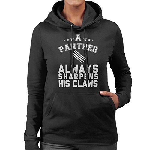 Imagine Life Without Black Panther Women's Hooded Sweatshirt Black