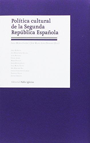Política cultural de la Segunda República Española
