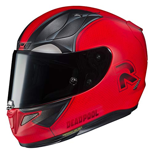 Casque moto HJC RPHA 11 DEADPOOL 2 MARVEL MC1SF, Rouge/Noir, S