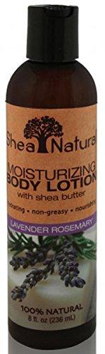 Feuchtigkeitsspendende Body Lotion mit Shea Butter, Lavendel Rosmarin - Shea Natur -