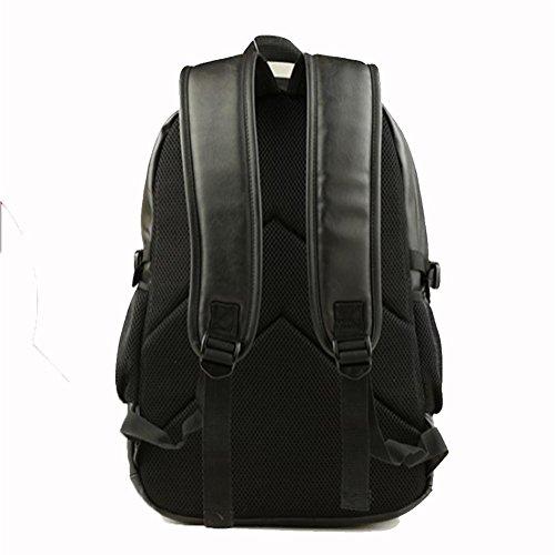 Casual moda maschile zaino marea, medie e studenti delle scuole superiori sacchetto di spalla, borsa da viaggio del computer uomo, che contiene una tasca del computer, tasca per cellulare, grande capa black