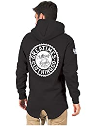 SUDADERA GREAT TIMES LONG HOODIE FW17 NEGRA