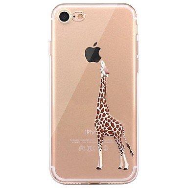 Handy-Hüllen & Hüllen, Fall für iphone 7 6 spielen mit Apfel-Logo tpu Tier weichen ultra-dünne Rückseite Abdeckung Fall Deckung iphone 7 plus 6 6s plus se 5s 5 ( Kompatible Modellen : IPhone 5c )