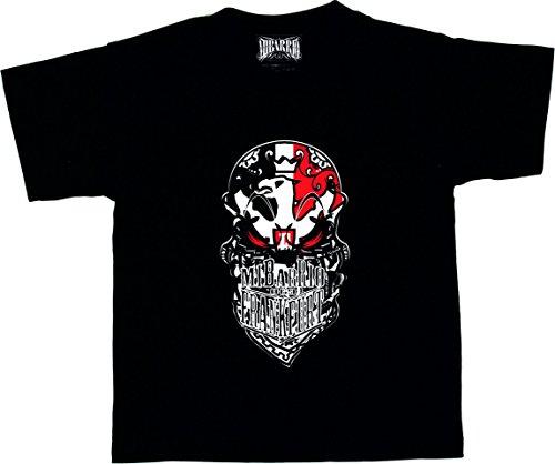 Mi Barrio Skull Kids T-Shirt, Schwarz, Größe 122-128
