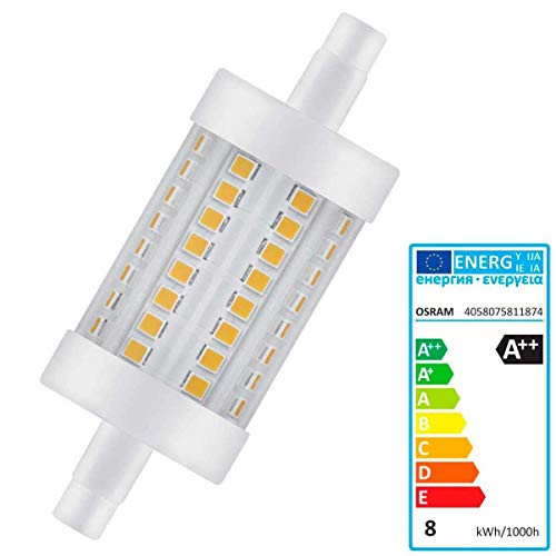 Osram Parathom Dim Line R7S 8W R7S A + + Warm White LED Bulb–LED Bulbs (Warm White, White, A + +, 50/60, 220–240, 8kWh)