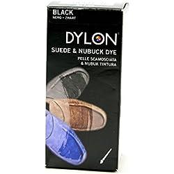 Dylon - Tinte para zapatos (para piel suede y nubuck), color negro