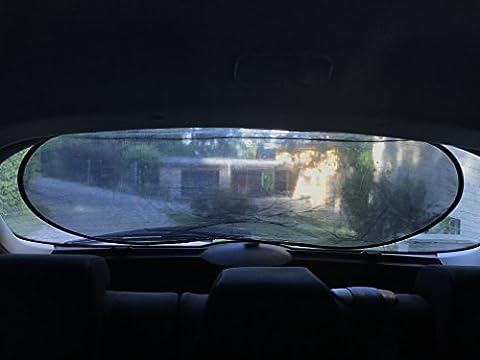 Rear Window Shade–Premium fenêtre Soleil Coque par Outback Shades- Utilisation facile étirable Pare-soleil de voiture de voiture garder au frais–Bloque les 97% des rayons UV à partir de zone de grande fenêtre de dos–100x 50cm avec étui de rangement