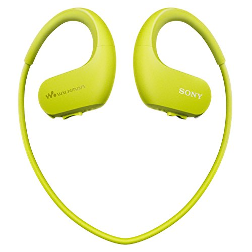 Sony NW-WS413 Lettore Musicale Digitale Walkman Wireless, Memoria interna 4GB, Resistente all'acqua, Lime
