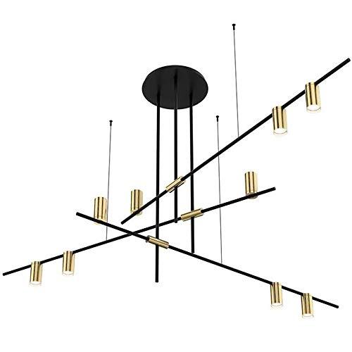 L.HPT Sputnik Kronleuchter Chrome,Modern Höhenverstellbar Sputnik Lampe Einfache und Atmosphärische Kreativität Leuchtmittel Restaurant Hotel Loft Schlafzimmer Büro Cafe(Ohne Glühbirne) - Chrome Kronleuchter