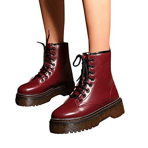 Preisvergleich Produktbild TianWlio Schuhe Stiefel Stiefeletten Boots Damen Chelsea Boots Laufschuhe Hohe Stiefel Schnürer Sportschuhe Sneaker Kurzschaft Waterproof Stiefel Desert Boots Halbschaft Schnürstiefel Combat Boots
