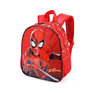 Karactermania Spiderman Spiderweb-Kindergarten Rucksack Mochila Infantil 30 Centimeters 7 Rojo (Red)