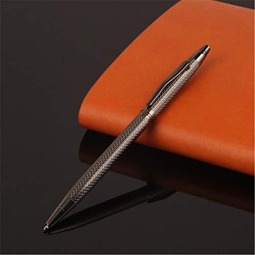 6 wellenförmige metall kugelschreiber Hohe qualität Nachfüllbar Schreiben glatte beschichtung shell 133X7,6 MM (1,0 MM) Gel Marine Batterie