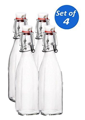 Bormioli Rocco Swing Top Glas Flaschen, 8,5Unze-Set von 4 - 8.5 Unze Set
