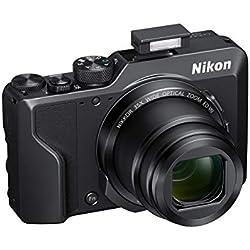 Nikon Coolpix A1000Appareil Photo numérique Compact, 16mégapixels, Zoom 35x, 4K smirino électronique incorporé, raw (NRW), Bluetooth, Wi-FI, Noir [7,62Card: 4Ans de Garantie]
