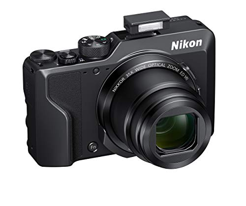 Nikon Coolpix A1000 Fotocamera digitale compatta, 16 Megapixel, Zoom 35X, 4K, mirino elettronico incorporato, RAW (NRW),  Bluetooth, Wi-Fi, Nero [Nital Card: 4 Anni di Garanzia]