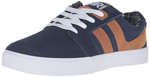 Osiris Men's Lumin Skateboarding Shoe, Navy/Brown/White, 5 M US (Duffel Herren Osiris)