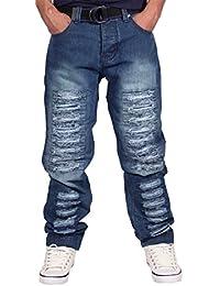 Peviani - Jeans Hommes Garçons Vrai DéchiréÉtiole Temps Est G Religion Hip Hop Usure De L'argent