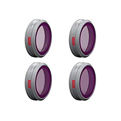 YAKOK PGYTECH 4Pcs ND Filters Set Filter Drone Accessories for MAVIC 2 ZOOM, ND8 ND16 ND32 ND64 Filter