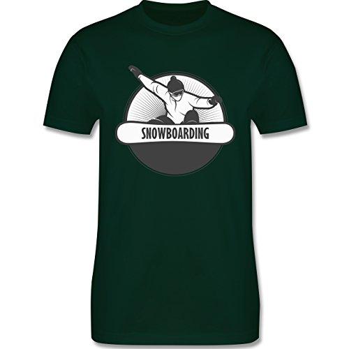Wintersport - Snowboard Fun - Herren Premium T-Shirt Dunkelgrün