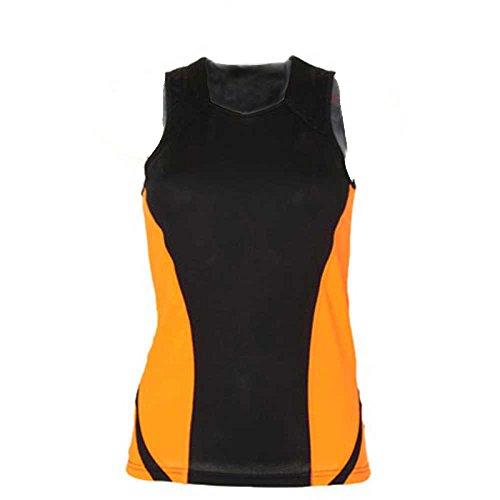 Gamegear Débardeur de sport Cooltex pour femme noir - Black/Fluorescent Orange