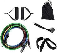 NBLYW Resistance Bands Set (11 stks), Spanning Band Set voor Gewichten Oefening, Oefening Bands met Deur Anker, Handgrepen,