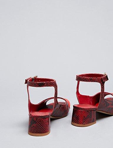 Find Sandales À Talons Pour Femmes Multicolores (imprimé Rouge)