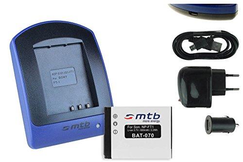 Akku + Ladegerät (Netz+Kfz+USB) für NP-FT1 // Sony DSC-L1, M1, M2, T1, T5, T9, T10, T11, T33 Dsc-t10 Sony Cyber-shot