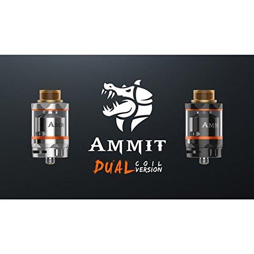 Geek Vape Ammit Dual RTA (schwarz / silber), Farbe:schwarz