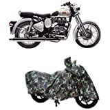 SPIRITED Water Resistant Bike Cover for Royal Enfield Classic 350 Cover (Jungle)