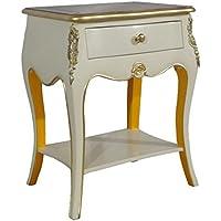 Comparador de precios Casa-Padrino Baroque Chest with 2 Drawers Antique White/Orange / Gold H 70 cm, W 50 cm - - Bedside Table - Bedside Table - precios baratos