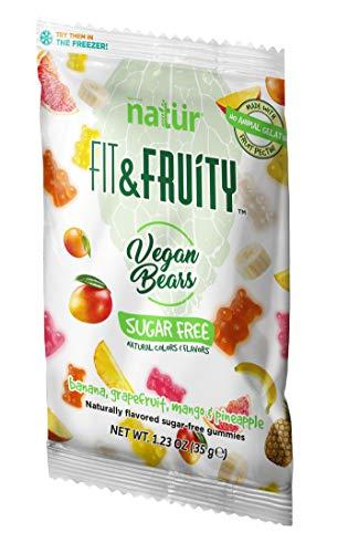 Fit & Fruity Vegane Gummibärchen ohne Zucker, 30er Pack (30 x 35 g Beutel)
