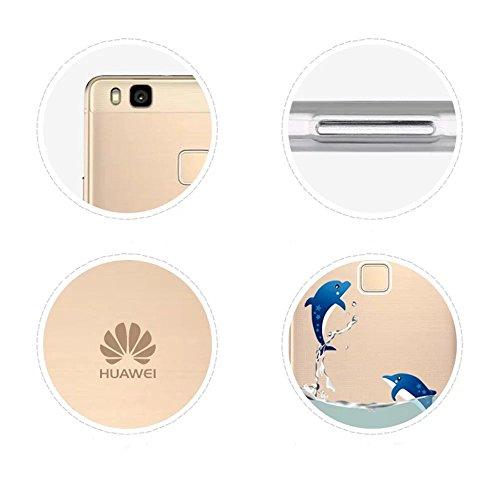Vandot Huawei P9 Lite Coque de Protection Etui Transparent Antidérapant Pour Huawei P9 Lite Etui Protection Dorsale Étui Slim Invisible Housse Cover Case en TPU Gel Silicone Hull Shell-Blanc CHTPU-7