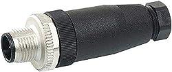 M12 Stecker ger. selbstanschließbar Schraubklemme