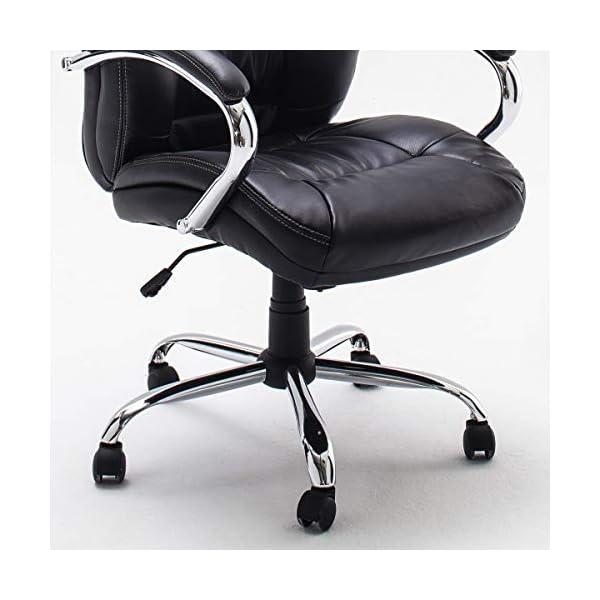 Robas Lund Porter Silla de Oficina, Metal, Negro, 73x68x116 cm