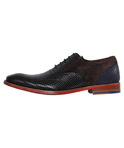 Floris van Bommel  19104/04, Chaussures de ville à lacets pour homme noir BlackPrint Noir