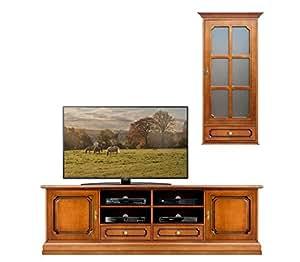 Arteferretto banc tv 200 cm vitrine poser ou accrocher Meuble tv accroche au mur