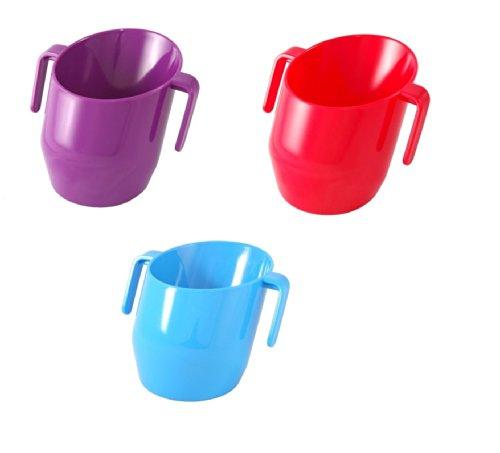Babyland Doidy Tasse Bundle–Purple & Red & Blue–Solid Colour 3Items - Baby-lernt Flasche