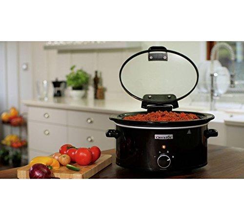 Crock-Pot 5.7L Hinged Lid Slow Cooker – Black