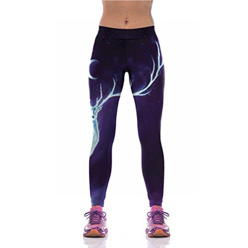 uideazone-mode-frauen-sport-leggings-3d-print-tier-hirsch-lauf-strumpfhose-lila